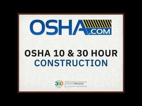 OSHA 10 & 30 Hour Construction Online Training - YouTube
