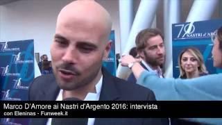 Gomorra 3, Ciro ci sarà? Marco D'Amore sibillino ai Nastri d'Argento 2016