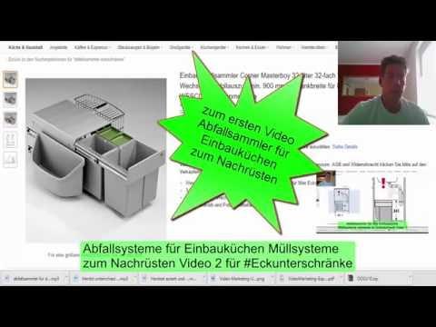 Abfallsammler Müllsysteme für Einbauküchen #Abfallsammler für Eckschrank video 2