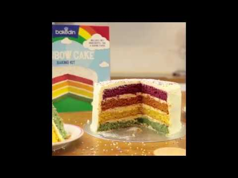 Youtube Video for Rainbow Cake - Baking Kit