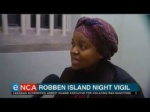 Robben Island Night Vigil for stalwarts