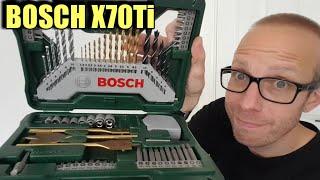 70 Piece Bosch X70Ti drill set review