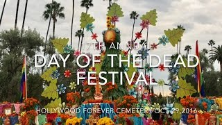 17th ANNUAL DIA DE LOS MUERTOS @ HOLLYWOOD FOREVER CEMETERY VLOG 102916
