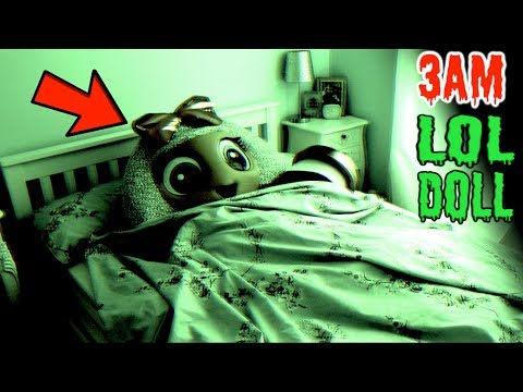 LOL DOLLS SLEEPING AT 3AM RECORDING!! *We Played Hide and Seek in real life*