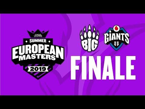 EU Masters - Giants vs BIG - FINALE Sezona 4 w/ Sa1na i Mićko
