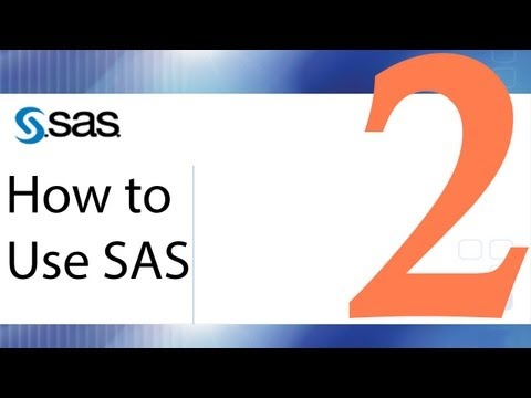Download How To Use Sas Lesson 2 Creating Datasets On The