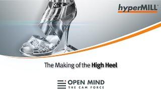 5-Achs-Bearbeitung eines High Heels auf einer Hermle-Fräsmaschine