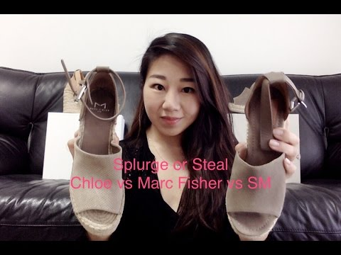 Splurge or Steal Chloe vs Marc Fisher Espadrille Wedge Sandals
