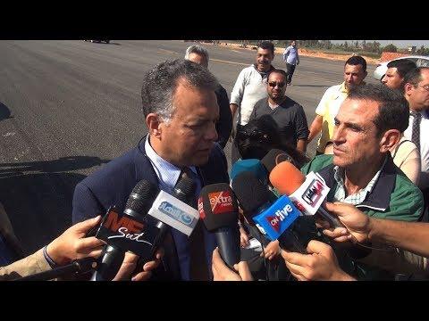 وزير النقل أثناء تفقد أعمال تنفيذ الدائري الإقليمي:  سيكون أهم طريق في مصر