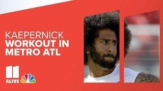 LIVE replay    Colin Kaepernick workout in metro Atlanta