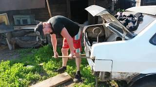 Как легко вытянуть кузов авто после ДТП у себя во дворе!!!
