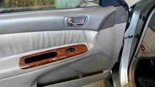 Тойота Камри, как снять обшивку двери.