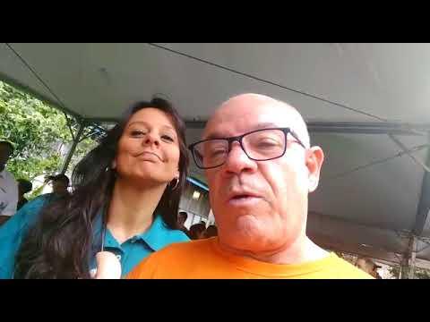 Fabiola Andrade do Sportv manda um beijão para o Repórter Favela