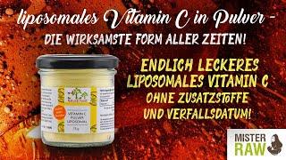 Endlich Liposomales Vitamin C Pulver ohne Alkohol und giftiges Magnesiumstearat - Baut Kollagen auf