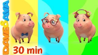🎨 This Little Piggy - Colors | Learn Colors with Dave and Ava 🎨