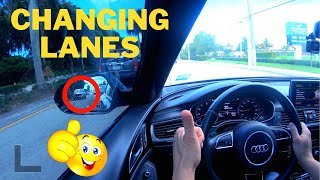 HOW TO CHANGE LANES WHILE DRIVING (Tips for Driving Test)