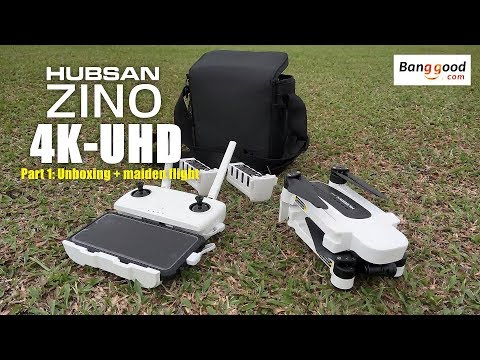 HUBSAN ZINO H117s 4K UHD drone -Part 1: Unboxing & maiden