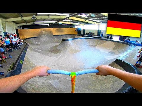 Germany's best indoor bowl on scooter