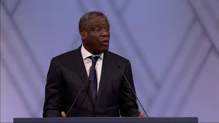 """""""Taking action means saying no to indifference,"""" says Mukwege"""