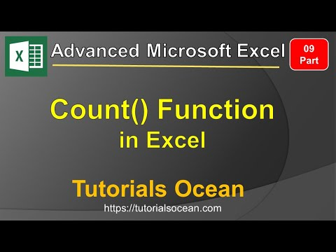 Part 09: Advanced Microsoft Excel Course – How to Count() Function in Excel in Urdu/Hindi