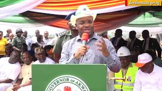 VIDEO: GOV UDOM COMMISSIONS ATLANTIC FM ROAD IN UYO.