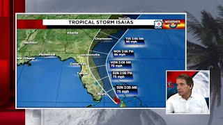 Bryan Norcross evening update for Tropical Storm Isaias