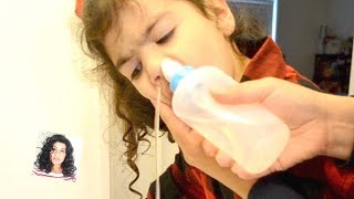 Nasal Lavage | How to use nasal Lavage on Kids | Clear Stuffy Nose ...