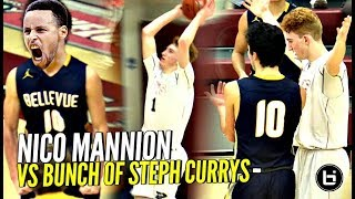 Nico Mannion vs WHOLE TEAM OF 3 POINT SNIPERS! LOL They Hit Scored More 3s Than 2s