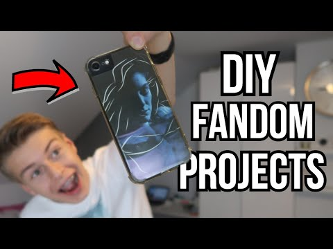 affordable & easy DIY fandom projects! (Lorde, Troye Sivan: totebag, frame art and phone case)