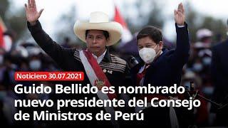 GUIDO BELLIDO PRESIDENTE DEL GABINETE MINISTERIAL EN EL PERU