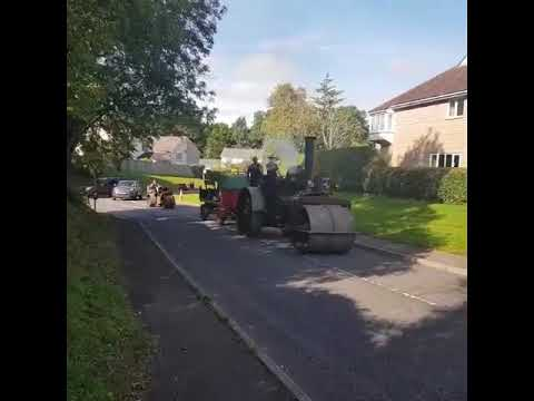 Aveling Steam Roller and Wallis Advance Petrol Roller