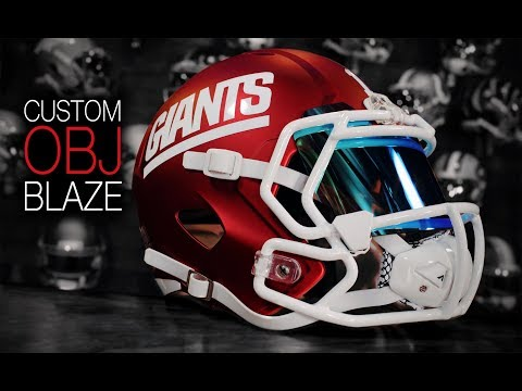 HELMET BUILD - OBJ Blaze Color Rush Helmet Riddell Speed Custom