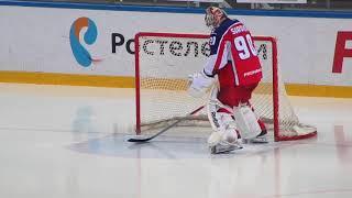 Goaltender Ilya Sorokin in action vs Amur Khabarovsk 1.12.17