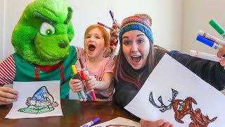 3 Marker Challenge! THE GRINCH EDITION