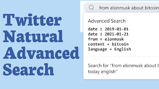 Easy Twitter Advanced Search with Quantleaf Query