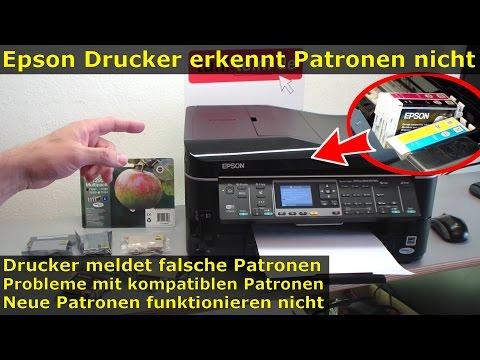 Epson Drucker erkennt Patronen nicht | meldet falsche Tintenpatronen | kompatible Patronen
