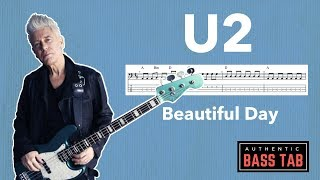 U2 - Beautiful Day 🎸Authentic Bass Cover + TAB