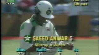 *LOWEST ODI TOTAL EVER* PAKISTAN All Out 43 - Vs WEST INDIES 1992/93
