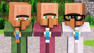 Villager & Witch Life 1   Alien Being Minecraft Animation