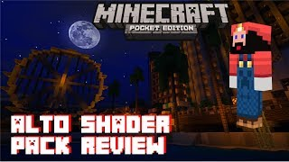 Alto Shader Pack Review - Minecraft Pocket Edition - iPhone 7 Gameplay