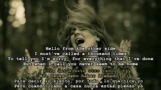 Adele - Hello Español e Ingles English & Spanish Lyrics