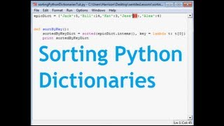 How to Sort a Python Dictionary By Value or Key!