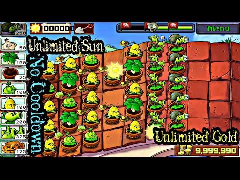 Plants Vs Zombies hack sun and cooldown - смотреть онлайн на