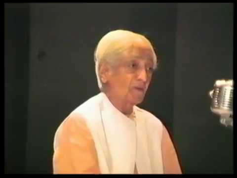 On having an active brain and on listening without action |J. Krishnamurti