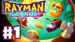 Rayman Legends - Gameplay Walkthrough Part 1 - Teensies in Trouble Intro (PS3, Wii U, Xbox 360, PC)