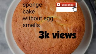 how to make a vanilla sponge cake without eggs