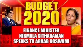 Budget 2020: Finance Minister Nirmala Sitharaman Speaks To Arnab Goswami