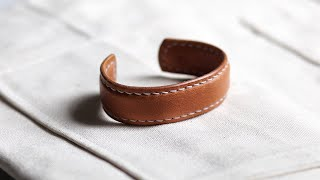 Make An EXPENSIVE Leather Bracelet From Scraps