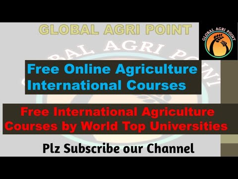 Free online International AGRICULTURE Courses || Free Online Courses with Certificates