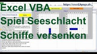 Spiel Seeschlacht, Schiffe versenken  Excel VBA Programmierung